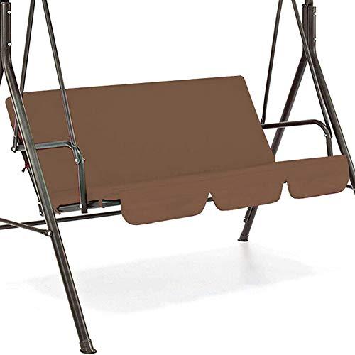 XIHUANNI Funda para asiento de columpio, cojín impermeable, alfombrilla de repuesto para patio, jardín, patio al aire libre