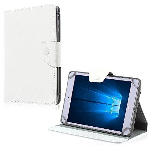 NAUC Tablet Tasche für HP Pro Slate 8 Hülle Schutzhülle Hülle Schutz Universal Cover, Farben:Weiss