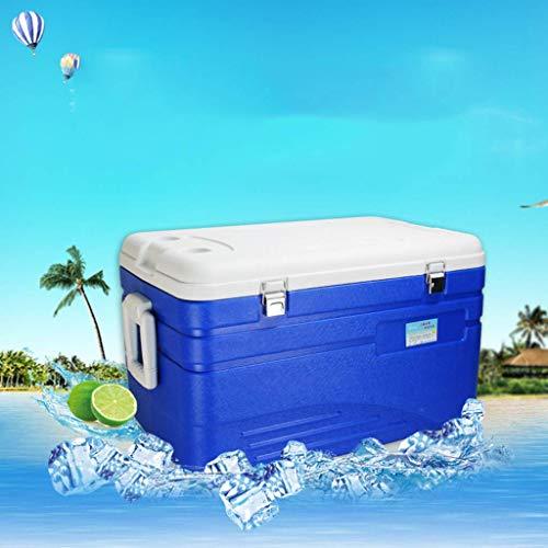 DEE Refrigerador-enfriador para automóvil Caja 110L Deep Freeze Zipperless Hardbody Cooler - 120 horas de aislamiento - Rendimiento Cerveza Bebida para acampar, barbacoas, seguimiento de cola y activ