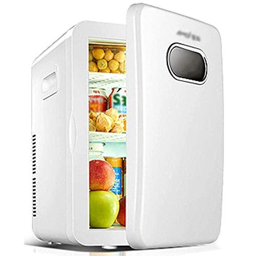 FHKBK Refrigerador de Coche Retro de Gran Capacidad de 20L, Mini refrigerador de Dormitorio en casa, Caja de frío y Calor de CA/CC, 12V / 220V-blanco B_20L