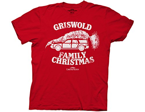 Ripple Junction National Lampoon's Christmas Vacation Adult Unisex Griswold Fam Xmas Light Weight 100% Cotton Crew T-Shirt MD Red