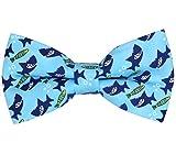 OCIA®Hombre/niños Hecho a Mano Clásicos Diseño original del patrón animal lindo Pajarita (Shark, M - (6 años para adultos jóvenes))