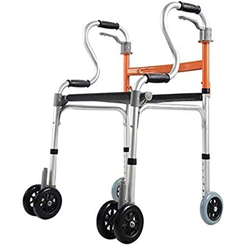 ZYQDRZ Andador con Ruedas,Andador De Viaje Ligero, Andador Plegable con Asiento, Ajustable En Altura, Sin Instalación, Plegable