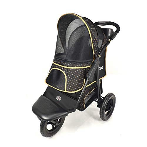 Innopet Adventure Hundebuggy Hundewagen Pet-Stroller Kinderwagen für Hund Katze Gold schwarz