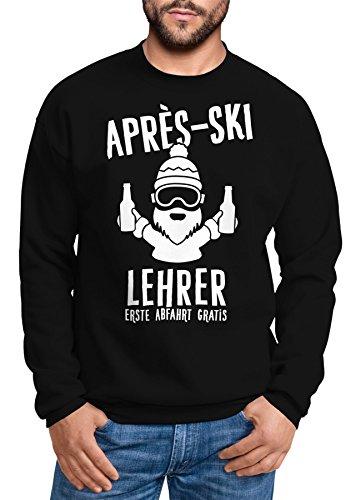MoonWorks Sweatshirt Herren Apres-Ski Lehrer Rundhals-Pullover schwarz XL