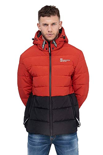 CrossHatch Herren Jacken - Samsons - Rot Schwarz, XL