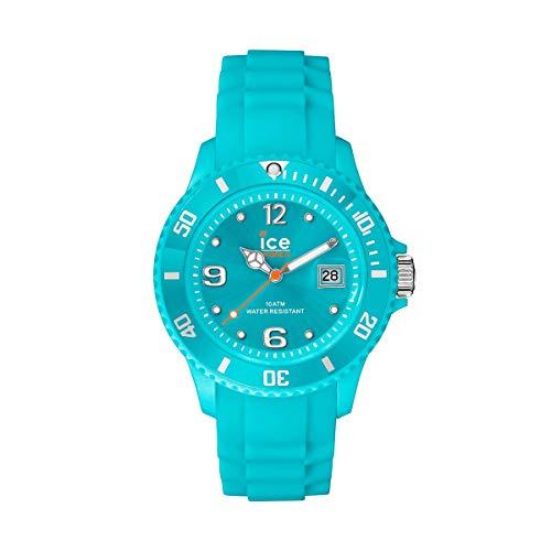 Ice-Watch Ice Forever Turquoise, Orologio Blu Unisex con Cinturino in Silicone, 000966, Medium