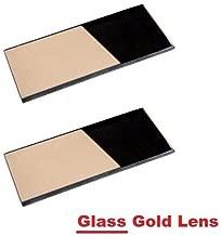 2 EACH Shade 10 Glass GOLD 2