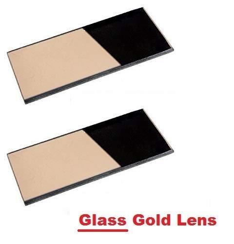2 EACH Shade 12 Glass GOLD 2' x 4.25' Welding Hood Lens Helmet Filter 2 x 4-1/4 Replacement