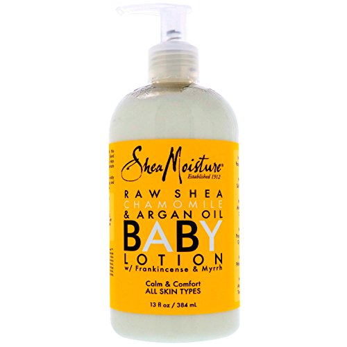 Shea Moisture Organic Raw Shea Chamomile and Argan Oil Baby Healing Lotion 12 Ounce ( 4 Pack ) by SHEA MOISTURE