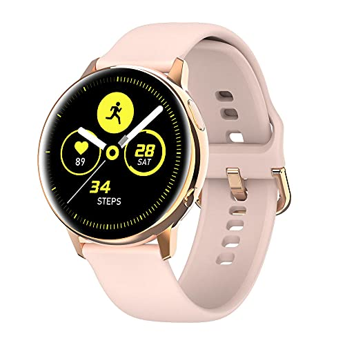 Pantalla Redonda Bluetooth 5.1 frecuencia cardíaca cardiocromoltaje presión-Oro Rosa