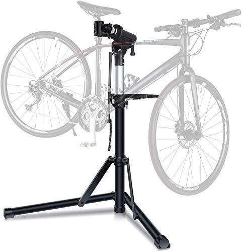 Cavalletto per Riparazione delle Biciclette, Supporto Pieghevole per Ripiano Biciclette, Regolabile in Altezza.