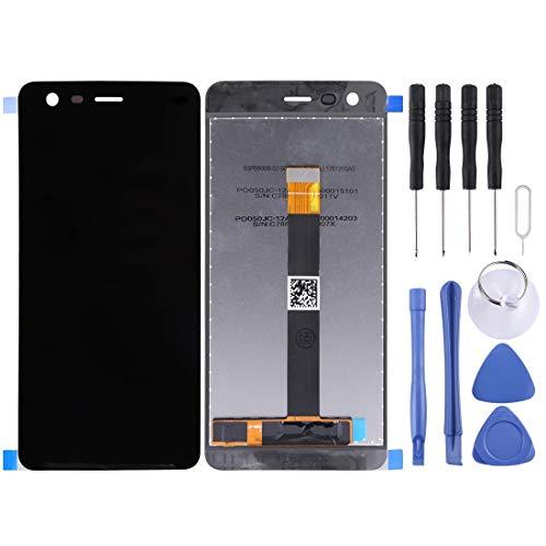 Sostituzione dello Schermo, Schermo LCD e Digitizer Assemblea Completa for Nokia 2 TA-1029 / DS (Nero) (Colore : Black)