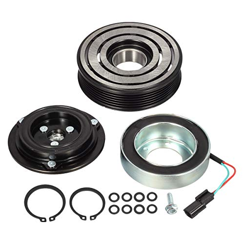 AUTEX AC Compressor Clutch Coil Assembly Kit Compatible with Maxima 2008-2014, Murano 2009-2014 3.5L Replacement for Pathfinder 2003-2015 Quest 2011-2015 3.5L Clutch