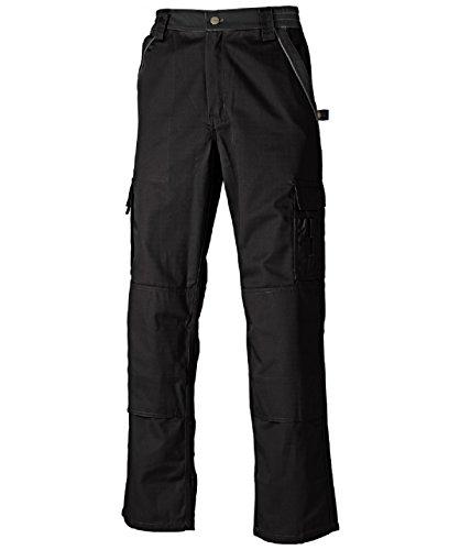 Dickies Arbeitshose,Robuste Industry-Serie,300g/m Größen, Bundhose aus 65% Polyester/35% Baumwolle (58, Schwarz)