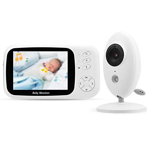 Monitor Inalámbrico del Bebé De 3.5inch, Intercomunicador Bidireccional Durable del Monitor del Sueño del Bebé De La Cámara del Infrarrojo para El Hogar(Default)