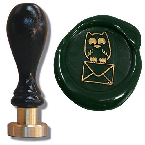 Siegel Stempel Petschaft Eulenpost 24 mm, Siegelstempel Briefsiegel Eule