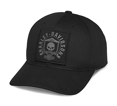 Harley-Davidson Men's Skull Shield Patch Cap, Black - 99492-17VM