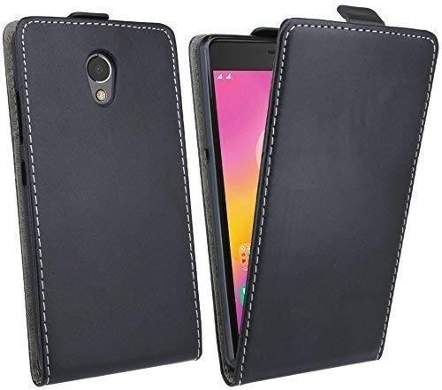 ENERGMiX Klapptasche Schutztasche kompatibel mit Lenovo P2 in Schwarz Tasche Zubehör Flip-Cover Hülle