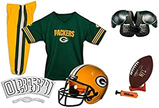 Franklin NFL Green Bay Packers Youth Licensed Deluxe 9-pc Uniform Set, Small