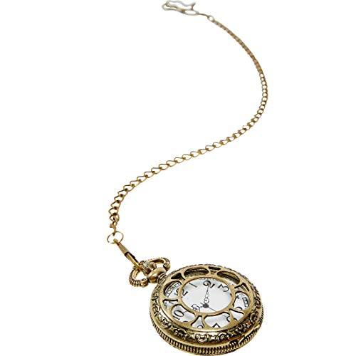NET TOYS Imitación Reloj de Bolsillo Estilo Steampunk | Dorado | Elegante...