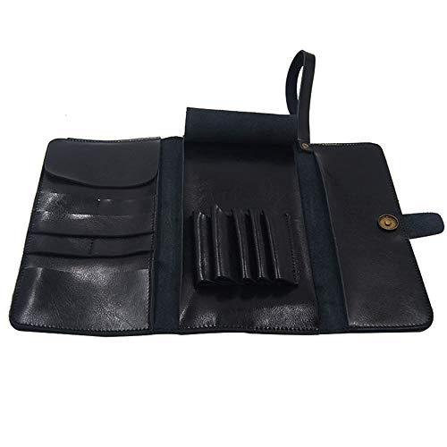 KIBILLL Pochette De Coiffure Cire À Cire Ciseaux Coupe De Cheveux Outils De Coiffure Sac De Rangement D'embrayage (Couleur : Noir)