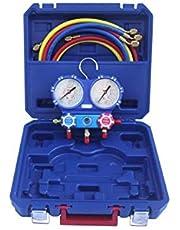 AGFRI Kit analizador 2 valvulas analogico manometros diam. 80 R32/R407C/R410A