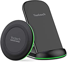 YOOTECH Wireless Charger,[2-Pack] 7.5W Qi Wireless Ladestation für iPhone 11/11 Pro/11 Pro Max/XS Max/XR/XS/X,10W Fast Induktives Ladegerät für Galaxy Note 9/S9/S9 Plus/Note 8/S8/S8, AirPods Pro usw.
