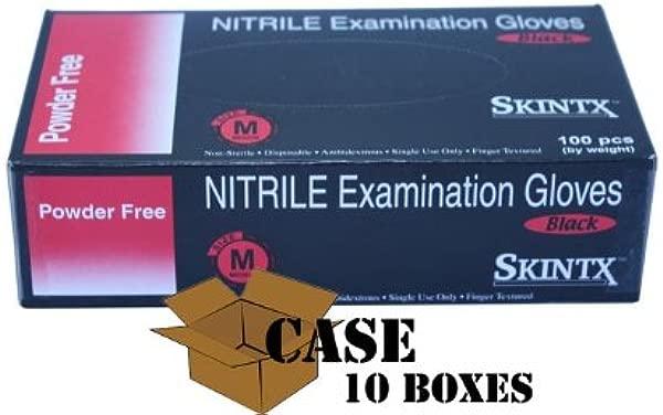 Skintx Black Nitrile Powder Free Exam Gloves Case Small