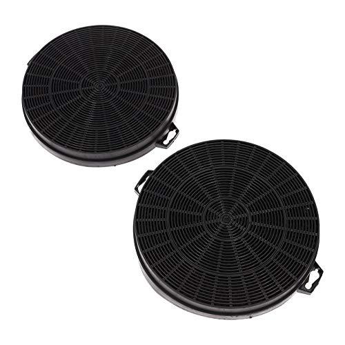 2 koolstoffilters Actief koolstoffilter Afzuigkap voor Bauknecht Whirlpool 481281728343 484000008579 CHF210/1 210/200 mm B210