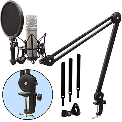 Rode NT1-A Kondensator-Mikrofon Set + keepdrum MS138 Mikrofonarm Tisch-Stativ