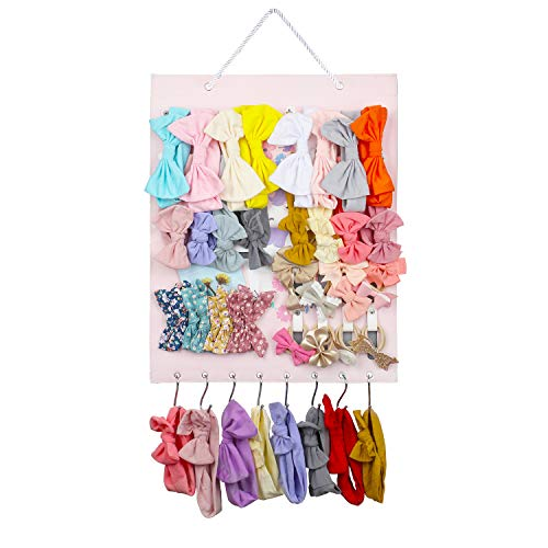 Headband Holder for Girls-Hair Bow Organizer Storage Accessories Home Decor Boutique Gift for Toddler