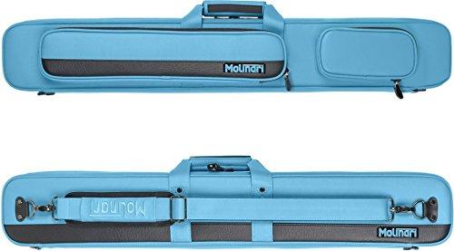 Molinari Flat Bag Billard Tasche 2/4 cyan/black 2 Queues - Pool Billiard Cue Case
