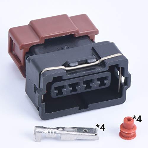 IGOSAIT 1 juego de 4 pines 10378 conector automático hembra de cable para Toyota 4 edad 16 V TPS Mitsubishi KA24 SR20 MAF EVO Lancer TPS Plug (color: Follow me Cheaper, Paquete: 1 juego)