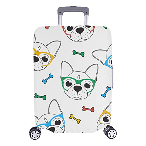 Luggage Protector Cover Puppy Dog Sweet Pet Fashion Decor Durable Washable Protecor Cover Fits 28.5 X 20.5 Inch Luggage Cover Protector Travel Luggage Protective Cover Baggage Protective Cover