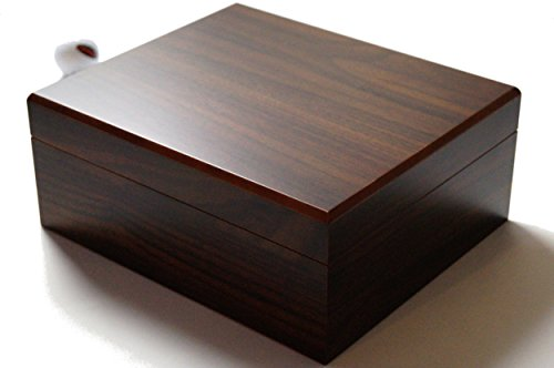 GERMANUS Sigari Humidor con igrometro e umidificatore e GERMANUS Manuale Marrone