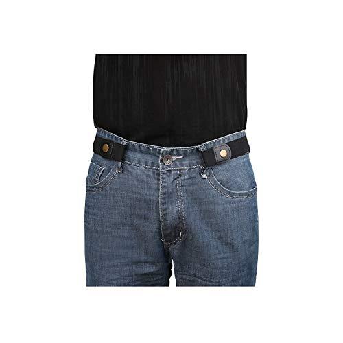 No Buckle Invisible Elastic Belt for Men/Women Black, Fits waist 36-50in