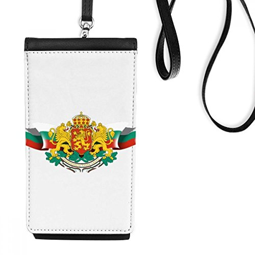 DIYthinker Bulgarien-Flagge National Emblem Kunstleder Smartphone hängende Handtasche Schwarze Phone Wallet Geschenk