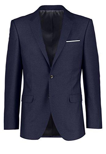 Judi Dench@ Herren Anzugjacken Business Freizeit Sakko Blazer Jacke, Groesse 4XL, Blau