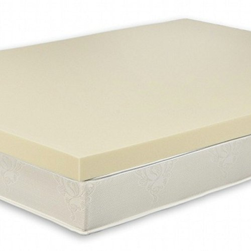 Warm Universe Premium Queen Size 3 Inch Thick, 4 Pound Density Memory Foam Mattress Pad Bed Topper w/Cover