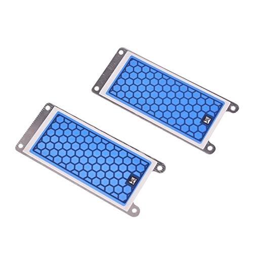 NLLeZ 2 pièces Portable en céramique générateur d'ozone Double Plaque en céramique intégrée ozoniseur air Eau purificateur d'air (Couleur : Blue)