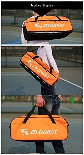 TentHome Waterproof Badminton Racket Cover 6 Racquet Bag Tennis Shoulder Bags Sports (Orange)