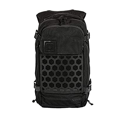 5.11 Tactical AMP12 Essential Backpack, Includes Hexgrid 9x9 Gear Set, 25 Liters, 1050D Nylon, Style 56392, Black