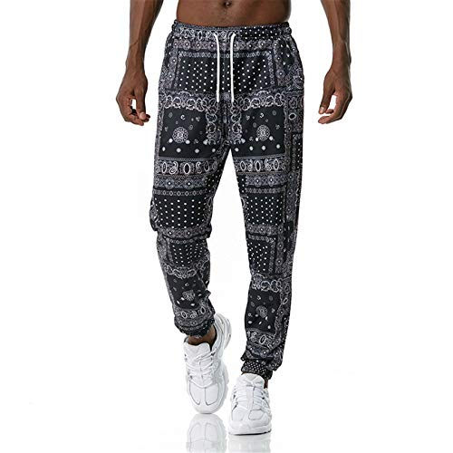 Ouma Young Men's 3D-Bedruckte Freizeithose Herren Loose Long Sweatpants