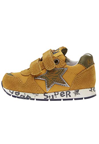 Naturino PAT VL.-Sneaker aus Leder und Gewebe-gelb gelb 28