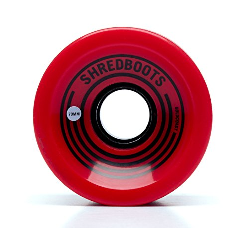 GOLDCOAST LONGBOARD WHEELS 70MM/85A - THE SHRED BOOT RED