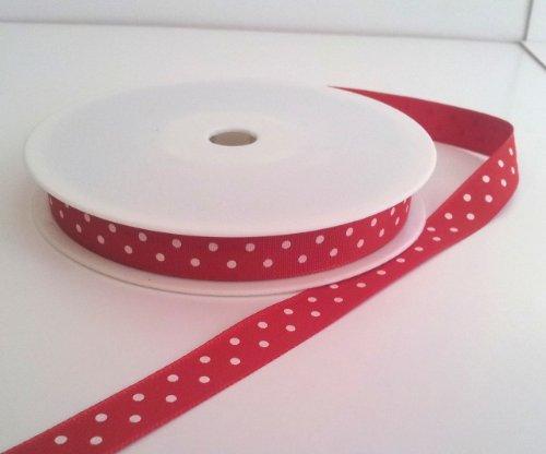 1 metre Polka Dot ruban gros-grain 10 mm de large
