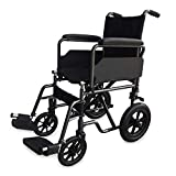 Mobiclinic, Modelo S230, Silla de ruedas para minusválidos y ancianos, de tránsito, plegable, ortopédica, reposapiés, reposabrazos, ligera, negro, asiento 46 cm