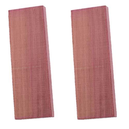 Aibote 1 Paar Natürliches Violettes lila Holz Messergriffwaagen Holzgriffe Materialplattenmesser Benutzerdefinierte DIY-Werkzeuge für die Schmuckherstellung leeren Klingen (120X40X10MM)