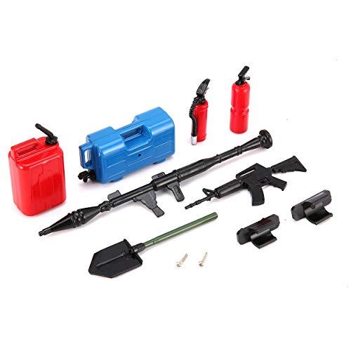 Lorenlli Fit AUSTAR Mini Modelo de Juguete Simulado Ametralladora Tanque de Gasolina Extintor de Incendios Kit de Palas para RC Coche Niños Regalo Presente
